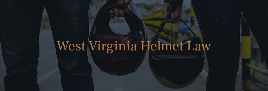 West Virginia motorcyclists carrying motorcycle helmets